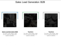 Sales Lead Generation B2B Ppt Powerpoint Presentation Gallery Example Introduction Cpb