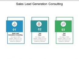 Sales Lead Generation Consulting Ppt Powerpoint Presentation Pictures Vector Cpb
