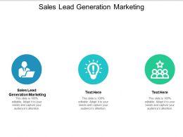 Sales Lead Generation Marketing Ppt Powerpoint Presentation Inspiration Designs Cpb