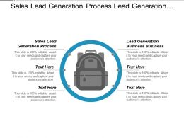 Sales Lead Generation Process Lead Generation Business Business Cpb