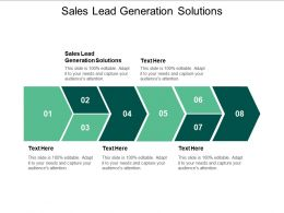 Sales Lead Generation Solutions Ppt Powerpoint Presentation Infographic Template Smartart Cpb