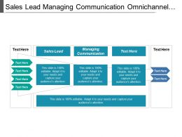 Sales Lead Managing Communication Omnichannel Negotiation Sales Pricing Strategy Cpb