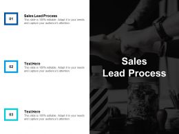 Sales Lead Process Ppt Powerpoint Presentation Infographics Graphics Design Cpb