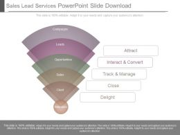 Sales Lead Services Powerpoint Slide Download