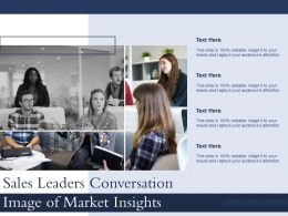 Sales Leaders Conversation Image Of Market Insights