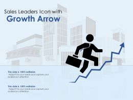 Sales Leaders Icon With Growth Arrow