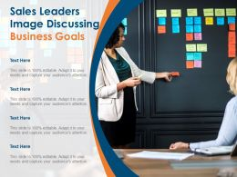 Sales Leaders Image Discussing Business Goals