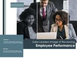 Sales Leaders Image Of Reviewing Employee Performance