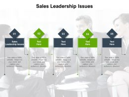 Sales Leadership Issues Ppt Powerpoint Presentation Model Picture Cpb