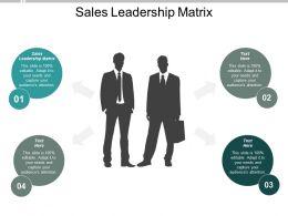 Sales Leadership Matrix Ppt Powerpoint Presentation Layouts Styles Cpb