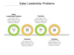 Sales Leadership Problems Ppt Powerpoint Presentation Infographic Template Microsoft Cpb