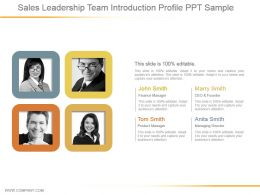 Sales Leadership Team Introduction Profile Ppt Sample