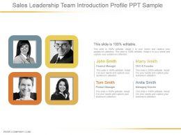 Sales Leadership Team Introduction Profile Ppt Sample