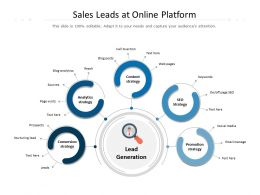 Sales Leads At Online Platform