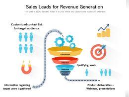 Sales Leads For Revenue Generation
