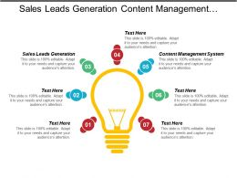 Sales Leads Generation Content Management System Finance Management