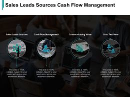 Sales Leads Sources Cash Flow Management Communicating Value Cpb