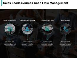 Sales Leads Sources Cash Flow Management Communicating Value Cpb