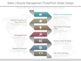 Sales Lifecycle Management Powerpoint Slides Design