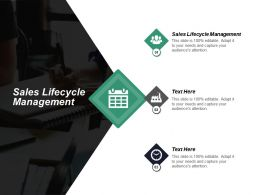 Sales Lifecycle Management Ppt Powerpoint Presentation Inspiration Summary Cpb