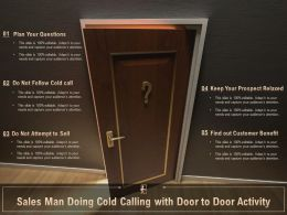 Sales Man Doing Cold Calling With Door To Door Activity