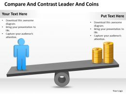 Sales Management Consultant Contrast Leader Coins Powerpoint Templates PPT Backgrounds For Slides 0528