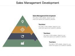 Sales Management Development Ppt Powerpoint Presentation Model Skills Cpb