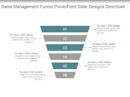 Sales Management Funnel Powerpoint Slide Designs Download