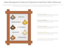Sales Management Goals And Objectives Powerpoint Slide Influencers