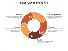 Sales Management KPI Ppt Powerpoint Presentation Layouts Design Templates Cpb