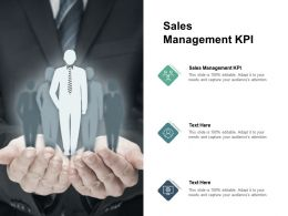 Sales Management KPI Ppt Powerpoint Presentation Pictures Slides Cpb