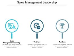 Sales Management Leadership Ppt Powerpoint Presentation Summary Examples Cpb
