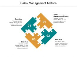 Sales Management Metrics Ppt Powerpoint Presentation File Graphics Pictures Cpb
