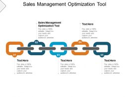 Sales Management Optimization Tool Ppt Powerpoint Presentation Infographics Cpb