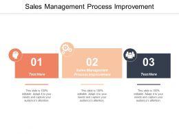 Sales Management Process Improvement Ppt Powerpoint Presentation Summary Professional Cpb