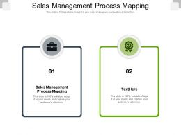 Sales Management Process Mapping Ppt Powerpoint Presentation Slides Vector Cpb