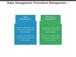 Sales Management Promotions Management Business Plan Leadership Development Cpb
