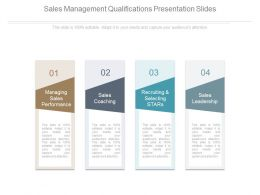 Sales Management Qualifications Presentation Slides
