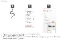 44557123 Style Circular Zig-Zag 4 Piece Powerpoint Presentation Diagram Infographic Slide