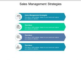 Sales Management Strategies Ppt Powerpoint Presentation Slides Aids Cpb