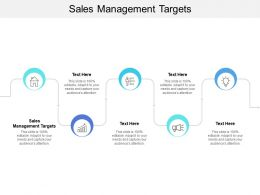 Sales Management Targets Ppt Powerpoint Presentation File Layouts Cpb