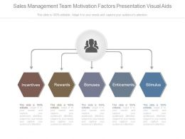 Sales Management Team Motivation Factors Presentation Visual Aids