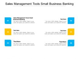 Sales Management Tools Small Business Banking Ppt Powerpoint Show Deck Cpb