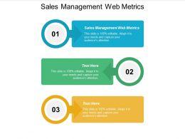 Sales Management Web Metrics Ppt Powerpoint Presentation Summary Layouts Cpb