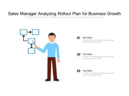 Sales Manager Analyzing Rollout Plan For Business Growth