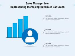Sales Manager Icon Representing Increasing Revenues Bar Graph