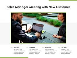 Sales Manager Meeting With New Customer