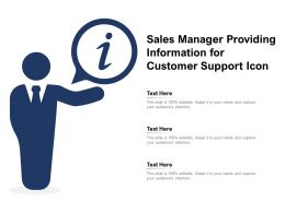 Sales Manager Providing Information For Customer Support Icon