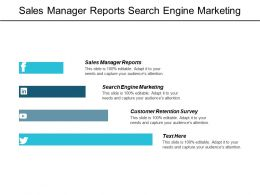 Sales Manager Reports Search Engine Marketing Customer Retention Survey Cpb