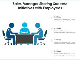 Sales Manager Sharing Success Initiatives With Employees